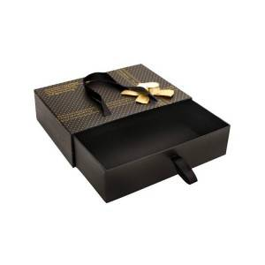 Recycle luxury packing paper gift box rigid fashion drawer box