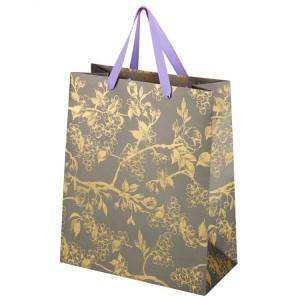Golden printing Shopping Bag,Tote Bag For Gift packaging industry