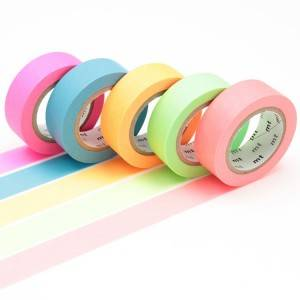 Solid color washi paper masking tape for DIY, decoration, masking