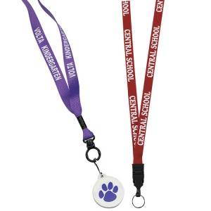 Custom badge holder lanyard with silk printing