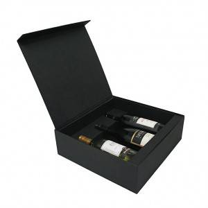 High quality custom paper wine box for 3 bottles