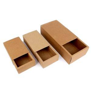 Corrugated paper drawer box