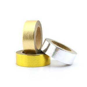 Hot sale foil tape,custom printed decorative foil washi tape