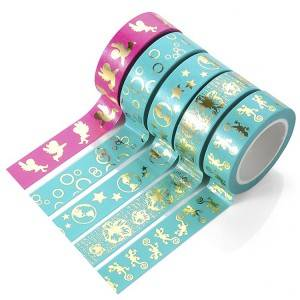Colorful Gold Foil Stationery Washi Masking Tape