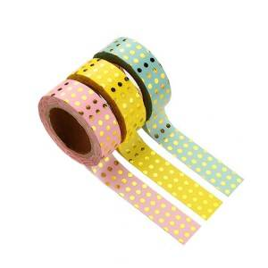 Printing washi colored gold foil tape