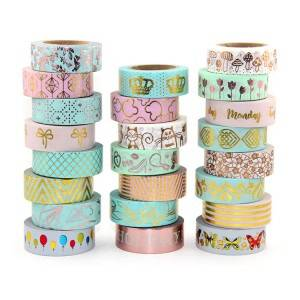 Foil washi paper tape customize base on client request