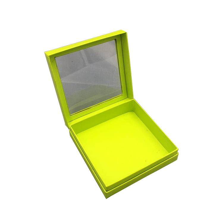 Window design flat paper cosmetic box for packikng