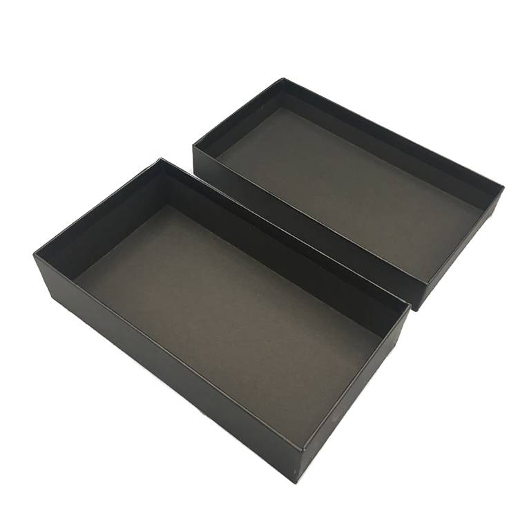 Black cardboard storage packing box with lid wholesale
