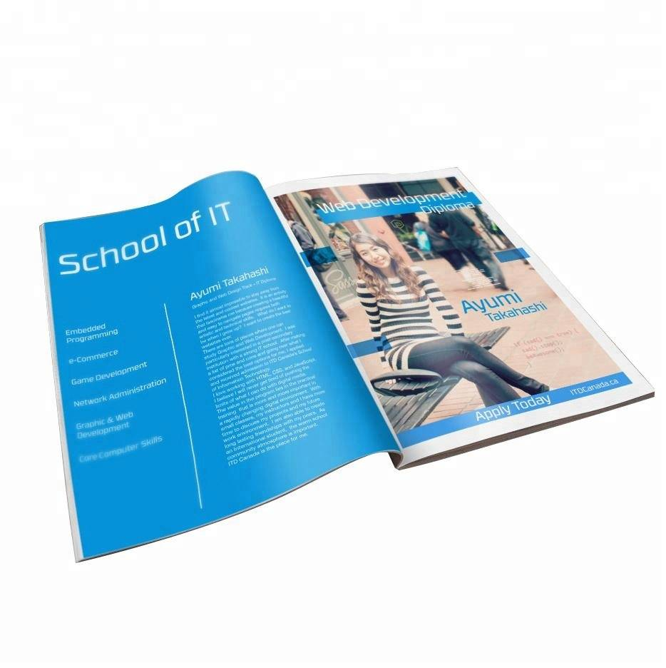 Book Brochure Magazine Printing Service Flyer Booklet Catalog Printing