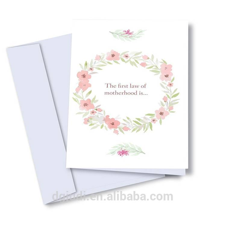 Floral Pattern Handmade Greeting Card for Mother's Day- Supplier OEM Service Featured Image
