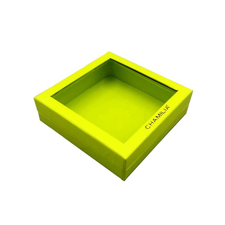 Window design flat paper cosmetic box for packikng Featured Image