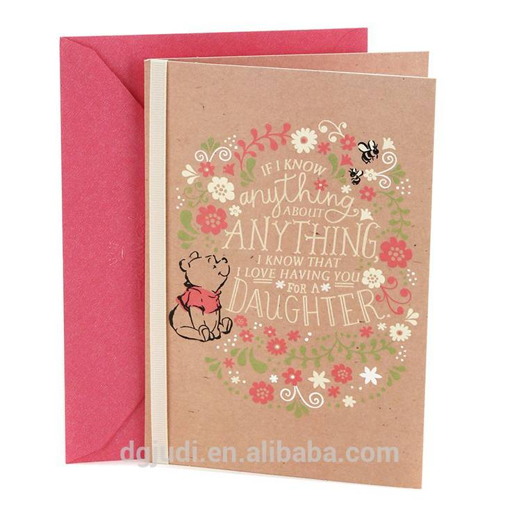 Colorful Printing Kraft Greeting Card- All Occasion Applicable (Include Envelope)