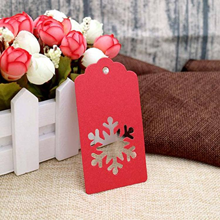 Unique design paper hang tag for gift
