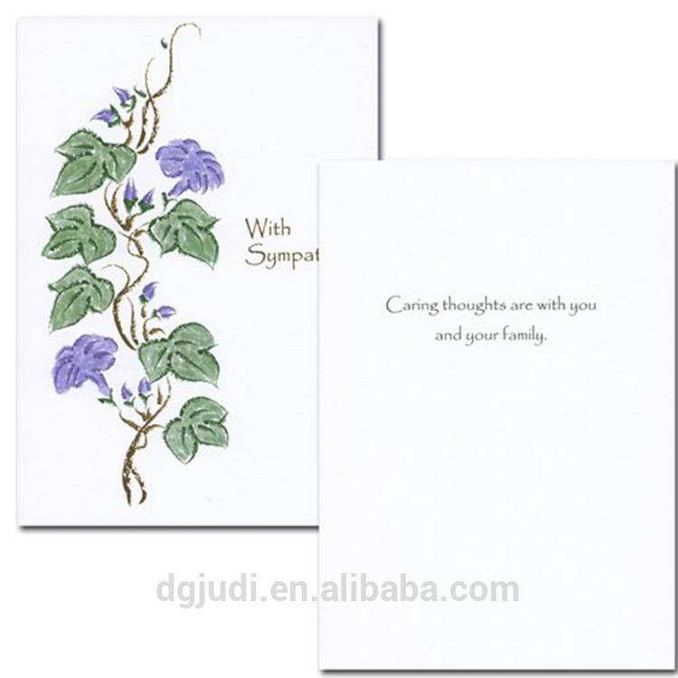 Sympathy Printing Greeting Card for Mother's Day, Teachers Day