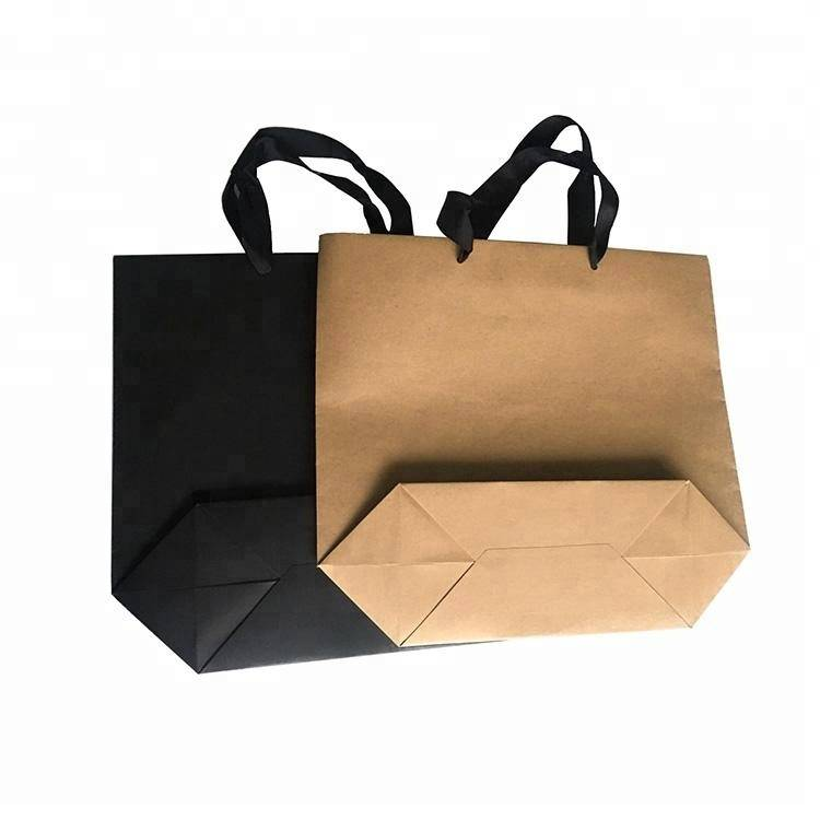 Factory customize portable paper shopping bag with custom logo
