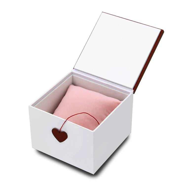 Lovely jewelry packing box custom logo white cardboard paper jewellery box
