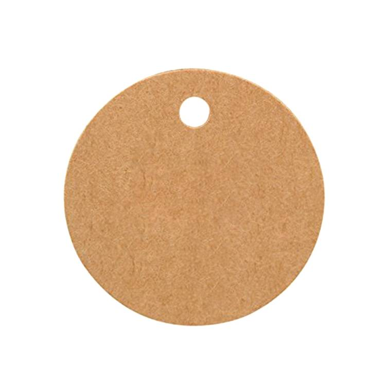 Custom printed round paper hang tag for gift, clothing, shoe