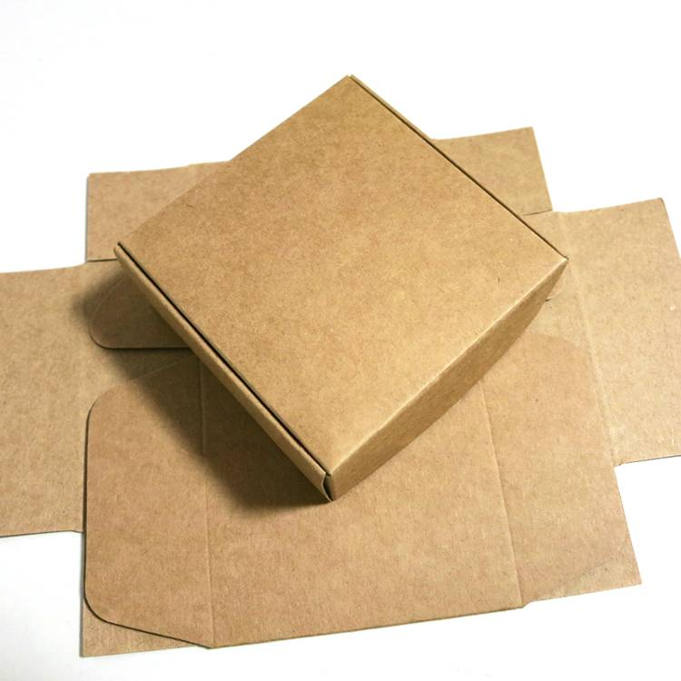 Custom made printing folded kraft paper packing box
