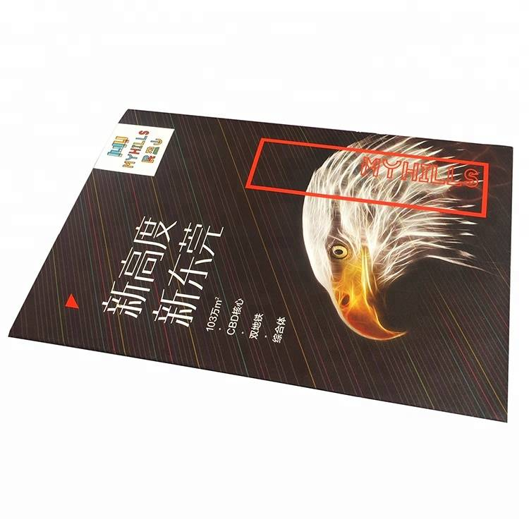 A4 Fold Colorful Shtypi / Flyers / Flyer Printing nga Kina Printer