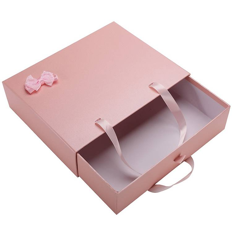 Custom made elegant paper drawer box gift cosmetic packing box