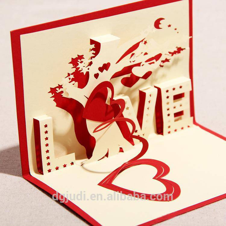 Premium 3D Pop Up Greeting Card for Birthday,Wedding,Thank you
