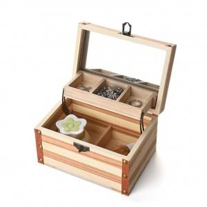 High eng wooden gift packing box with window