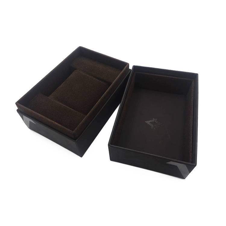 Luxury rectangle retail wooden watch box packing with lid Featured Image