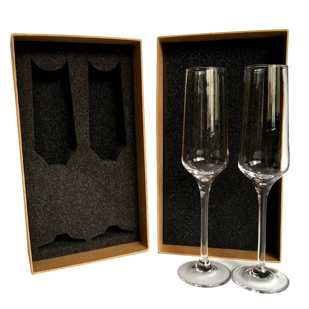 Swig glass champagne flute sets from chinese manufacturer