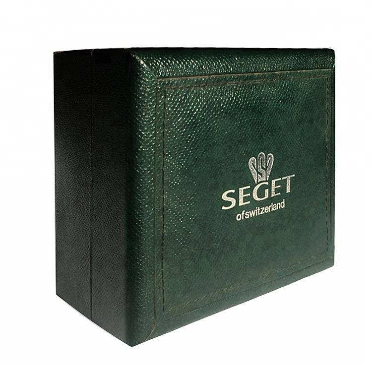 Texture design paper watch box packing with custom logo