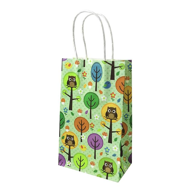 Decoration colorful printed paper shopping bag with personalized design