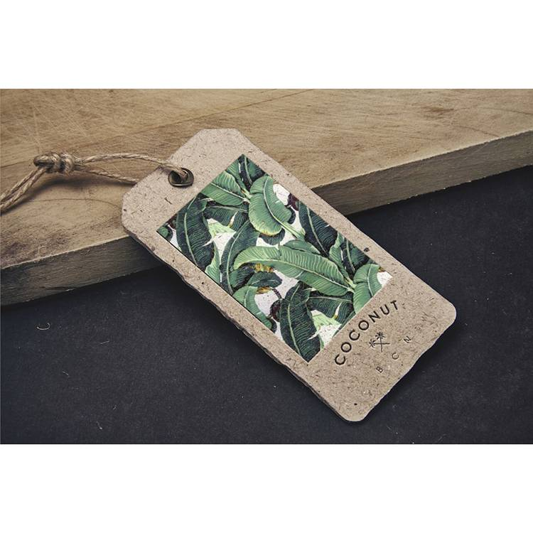 Custom printed clothing shoe hang tag wholesale