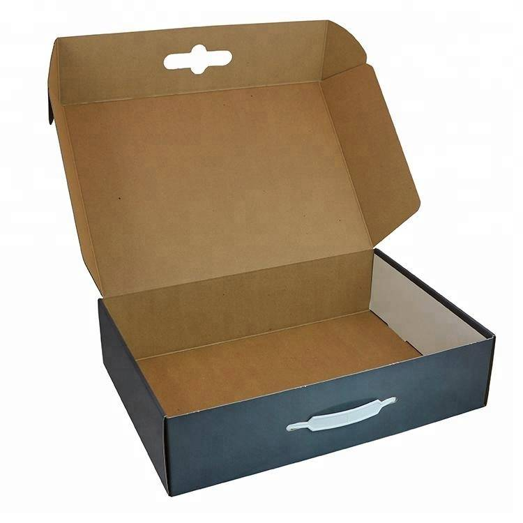 Custom logo folding retail gift paper box small shipping box