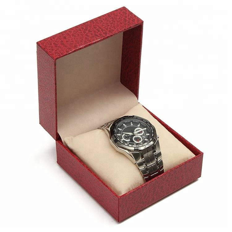 2018 hot sale custom logo texture paper watch packing box