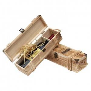 Customized luxury vintage wood box for wine