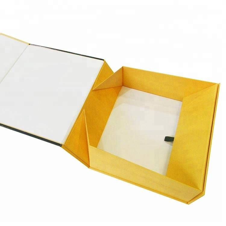 Custom logo gold flap paper box easy for shipping