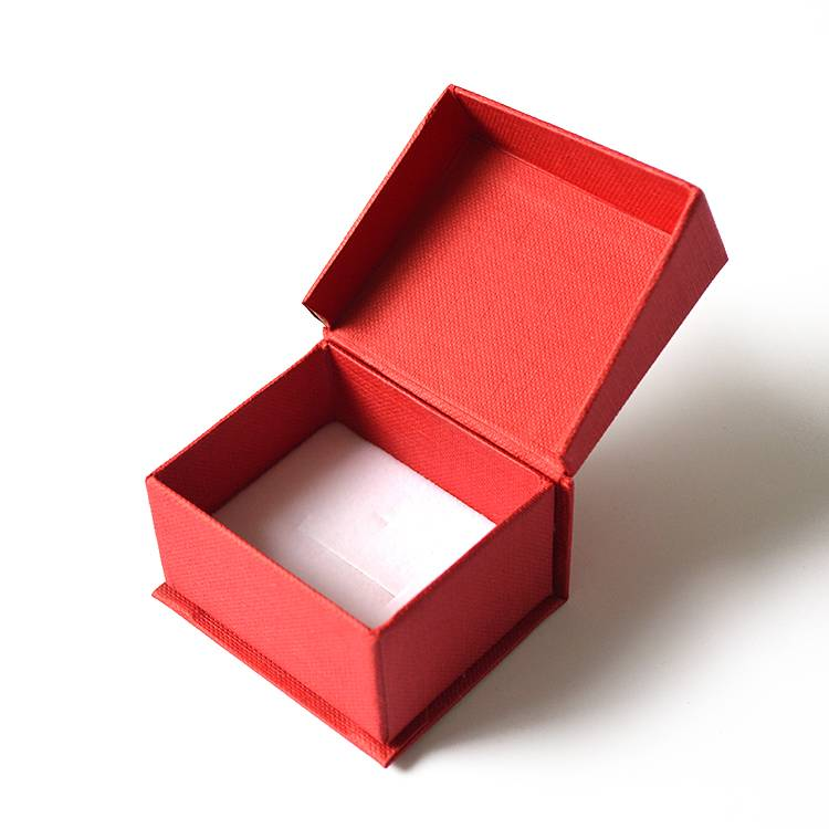Texture paper folded box solid color jewelry storage box