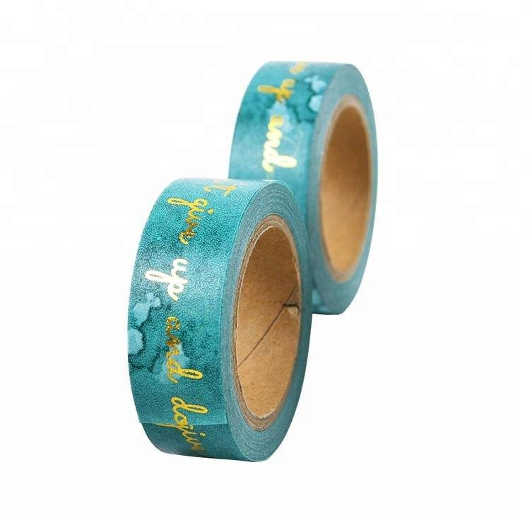 Golden foil Washi tape Hot stamping self adhesive tape wholesale