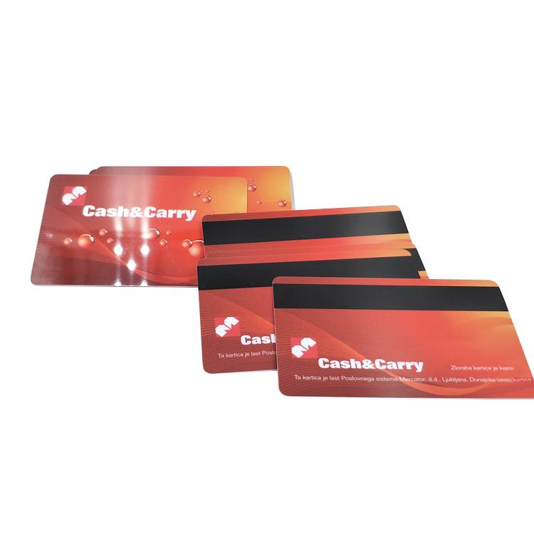 Custom printed contact magnetic stripe pvc smart card