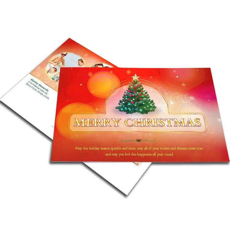 Custom good sell cheap paper folding popup christmas gift greeting cards