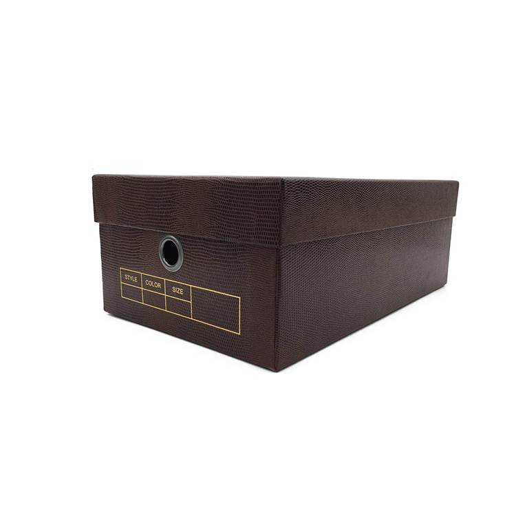 Luxury texture paper shoe box packing with lid
