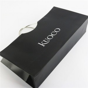 Brand new black Clothing Unique paper bag with high quality