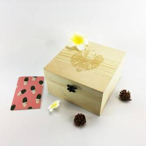 Natural pinewooden gift accessories box wholesale