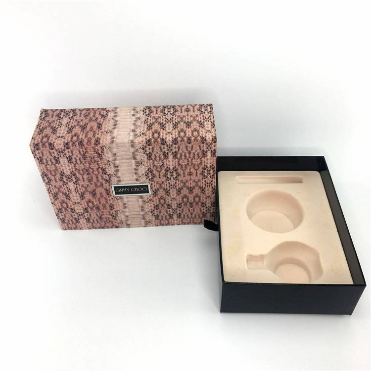 2019 hot sale cosmetic leather cover paperboard packaging box Featured Image