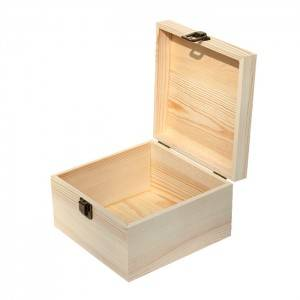Natural wooden gift accessories box custom in china