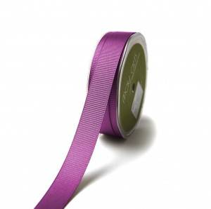 Purple grosgrain polyester printed satin ribbon