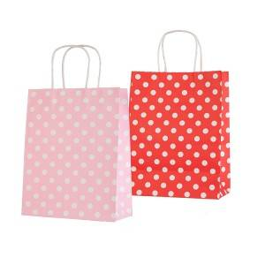 Polka-Dots Printed Kraft Paper Packing Bag