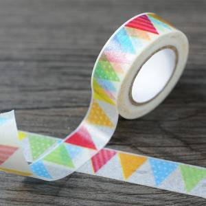 Solid Color Washi Tape With Lovely Printed Pattern