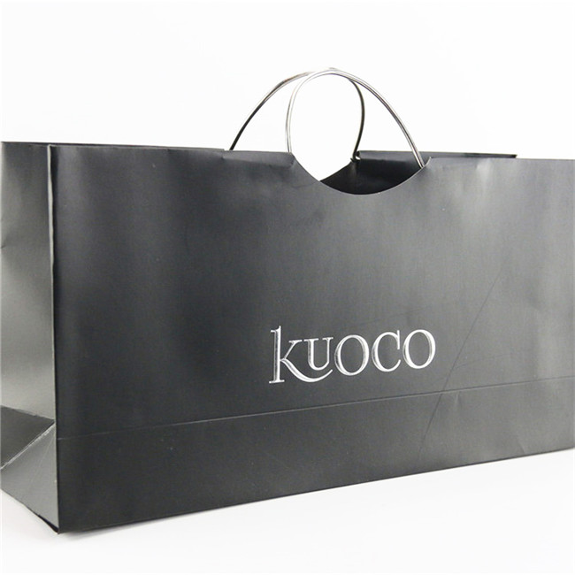 Brand new black Clothing Unique paper bag with high quality Featured Image