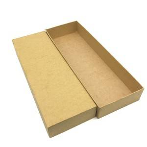 Beige Warna OEM Logo Rectangle Box kanggo Packing, Storage karo Lid