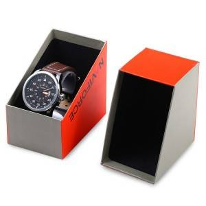 Nyt design Metal Lock Paperboard Watch Packing Box Med Window